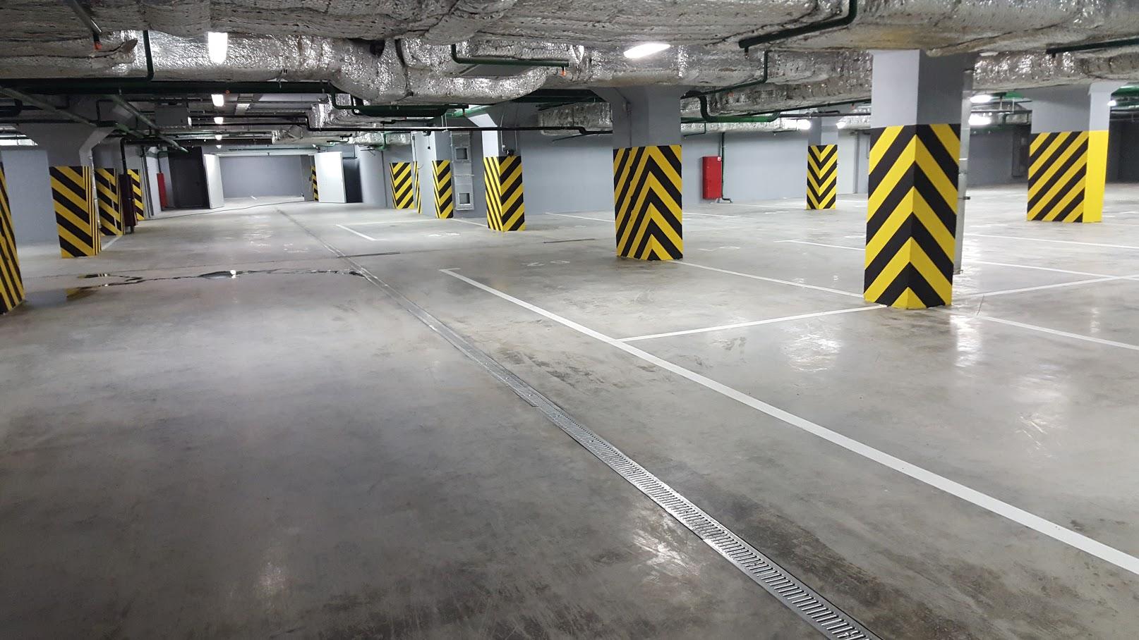 Покрытия подземного паркинга