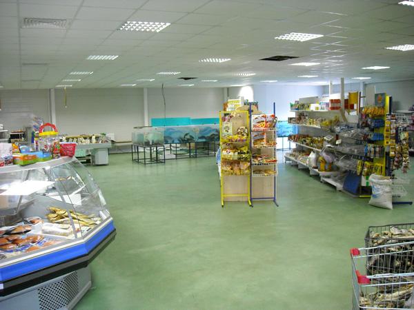 Полимербетонные полы для магазина на Ярославском шоссе